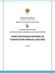 Sénégal: Cadre strategique national de planification familiale 2016-2020
