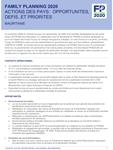 Mauritanie - Action des pays : opportunités, défis et priorités