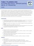 Niger - Résponse (2016) : Questionnaire annuel de mise à jour des engagements FP2020