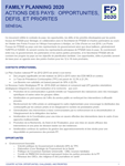 Sénégal - Action des pays : opportunités, défis et priorités