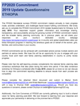 Ethiopia FP2020 Commitment Self-Reporting Questionnaire 2019