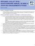 Côte d'Ivoire - Résponse (Octobre 2016) : Questionnaire annuel de mise à jour des engagements FP2020