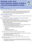 Guinée - Résponse (août 2016) : Questionnaire annuel de mise à jour des engagements FP2020