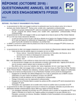 Mali - Résponse (Octobre 2016) : Questionnaire annuel de mise à jour des engagements FP2020