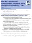 Togo - Résponse (Octobre 2016) : Questionnaire annuel de mise à jour des engagements FP2020