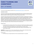 Rwanda FP2020 Commitment Self-Reporting Questionnaire 2017