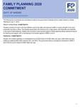 Sweden FP2020 Commitment (2012)