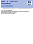 Solomon Islands FP2020 Commitment