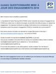 Guinée Questionnaire mise à jour des engagements 2018