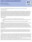 Kenya FP2020 Commitment (2017)