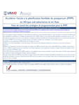 Madagascar Fiche de travail des stratégies de programmation pour la PFPP