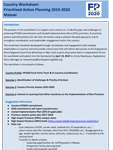 Country Worksheet: Prioritized Action Planning 2019-2020 Malawi