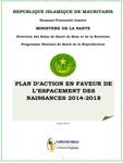 Mauritanie : Plan d'action en faveur de l'espacement des naissances (2014-2015)