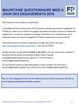 Mauritanie Questionnaire mise à jour des engagements 2018