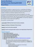 Country Worksheet: Prioritized Action Planning 2019-2020 Mozambique