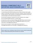 Rwanda FP2020 Commitment Self-Reporting Questionnaire 2018