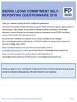 Sénégal Questionnaire mise à jour des engagements 2018