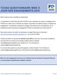 Tchad Questionnaire mise à jour des engagements 2018