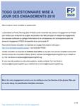 Togo Questionnaire mise à jour des engagements 2018