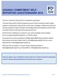 Uganda Commitment Self-Reporting Questionnaire 2018