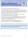 Zambia Commitment Self-Reporting Questionnaire 2018