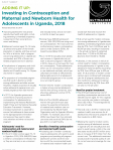 Adding It Up: Investing in Contraception and Maternal and Newborn Health for Adolescents in Uganda, 2018