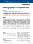Informed push distribution of contraceptives in Senegal reduces stockouts and improves quality of family planning services
