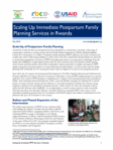 Scaling Up Immediate Postpartum Family Planning Services in Rwanda